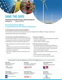 Washington Energy Mission Save the Date 2017