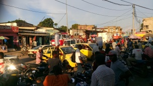 Transport station in Kinshasa